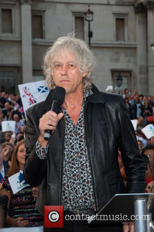 Bob Geldof speaks at the Let's Stay Together...