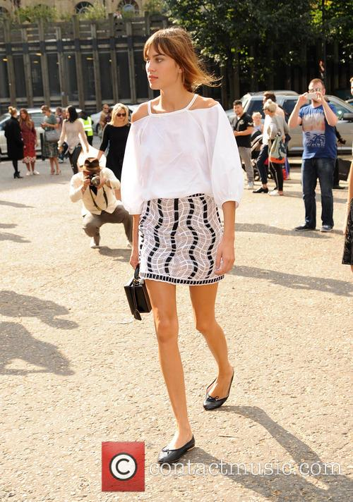 Alexa Chung pictured at a fashion show