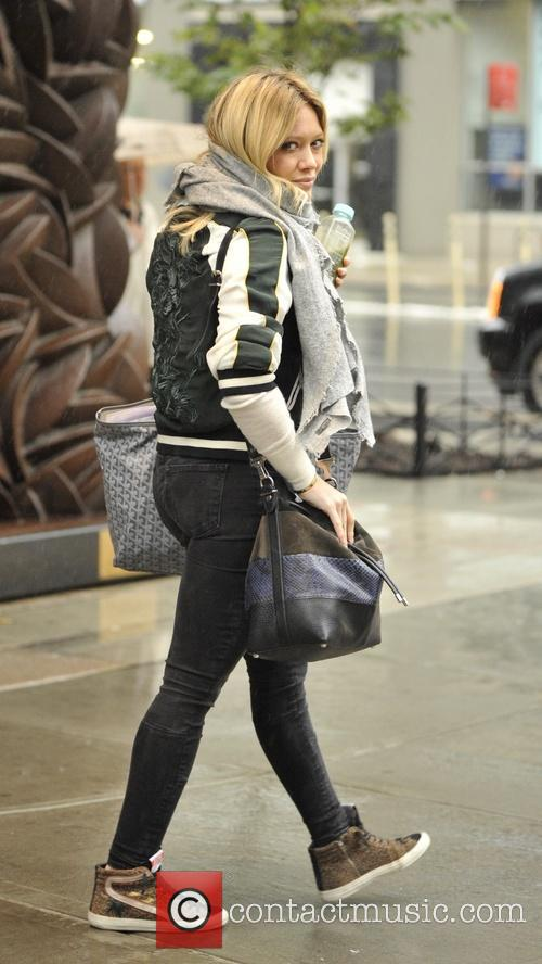 Hilary Duff leaving her hotel in New York