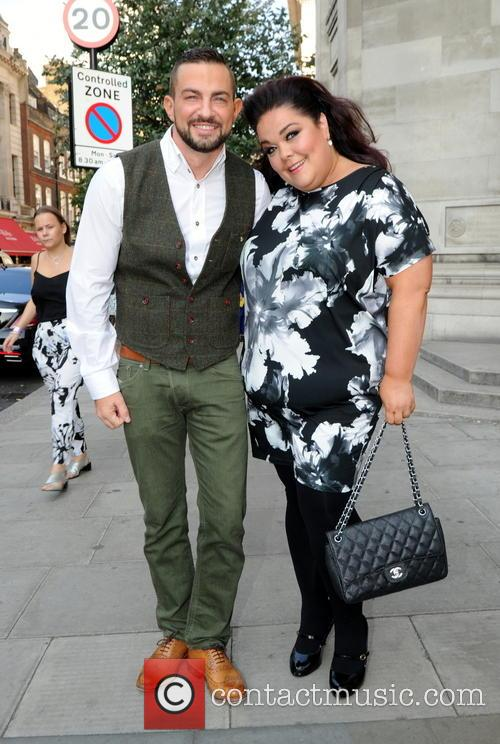 Lisa Reilly and Friend at London Fashion Week