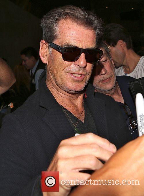 Pierce Brosnan arrives at Los Angeles International (LAX)...