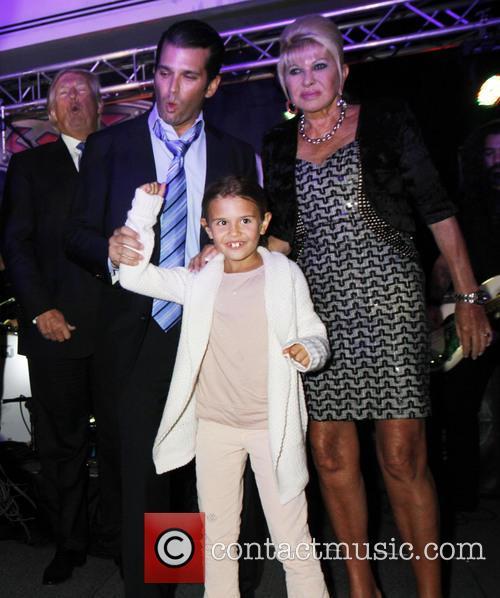Ivana Trump, Kai Trump and Don Trump Jr 9