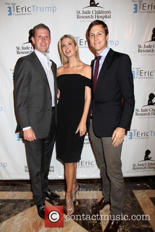 Ivanka Trump, Jared Kushner and Eric Trump 3