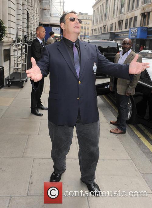 Dan Aykroyd pictured leaving his hotel in London