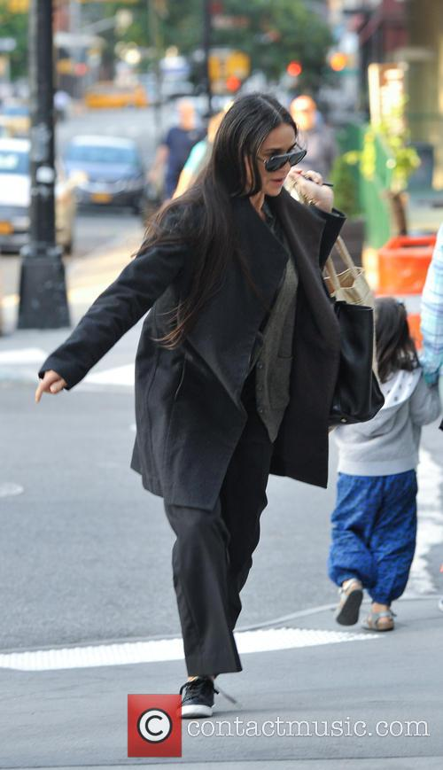 Demi Moore goes shopping in Tribeca