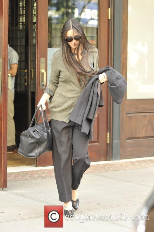 Demi Moore leaving her hotel