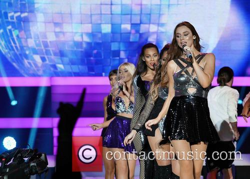 English-Irish girl group The Saturdays perform at the...