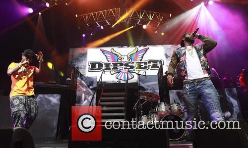 Dipset, Cam'ron, Jim Jones and Juelz Santana perform...