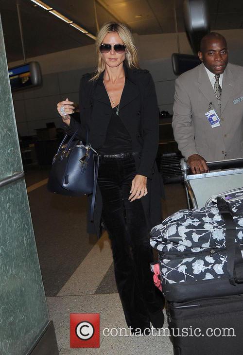 Heidi Klum and Los Angeles International Airport 4