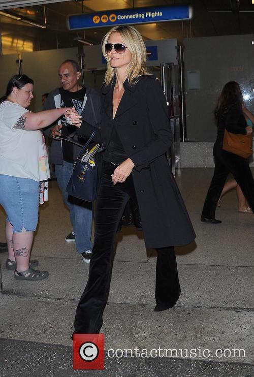 Heidi Klum at Los Angeles International Airport