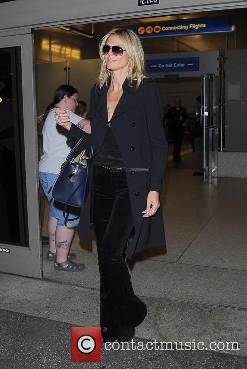 Heidi Klum and Los Angeles International Airport 5