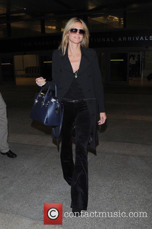 Heidi Klum and Los Angeles International Airport 9