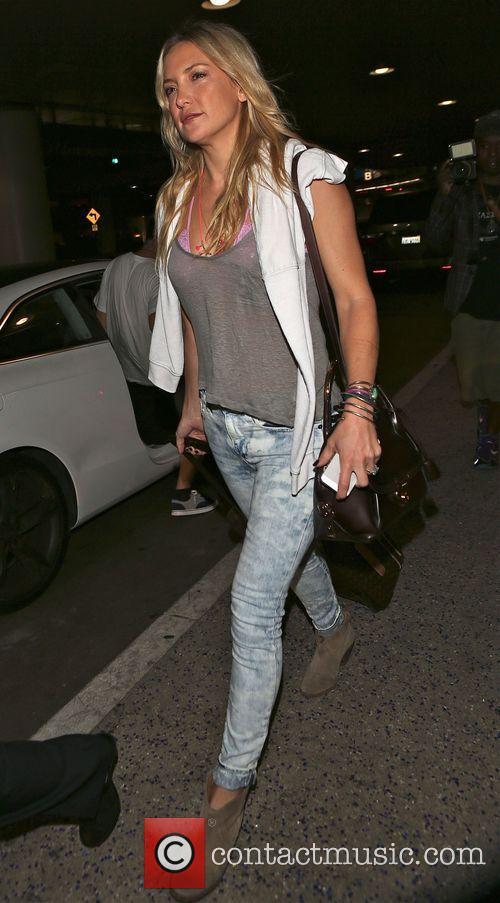 Kate Hudson arrives at Los Angeles International (LAX)...