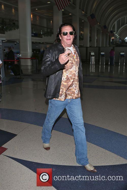 Michael Madsen at Los Angeles International Airport