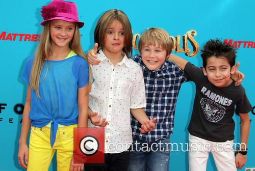 Lizzy Greene, Mace Coronel, Casey Simpson and Aidan Gallagher 1