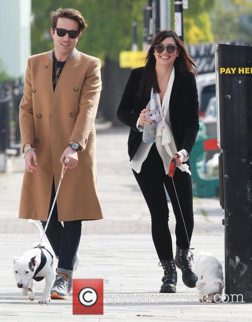Daisy Lowe and Nick Grimshaw take their dogs...