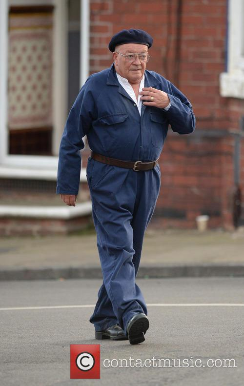 Filming of 'Open All Hours'