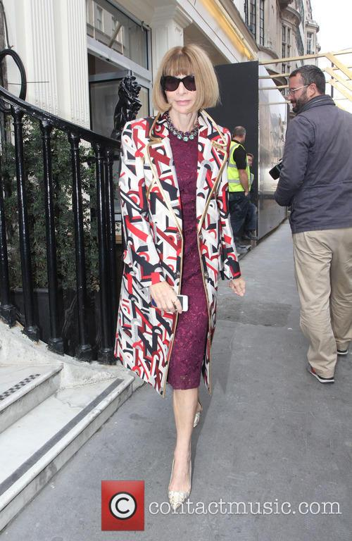 Anna Wintour seen leaving the Victoria Beckham's store