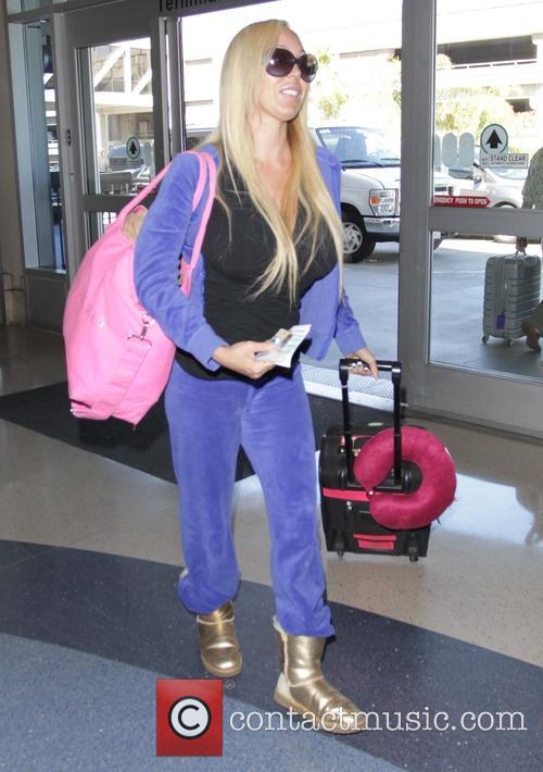 Mary Carey leaves Los Angeles International Airport