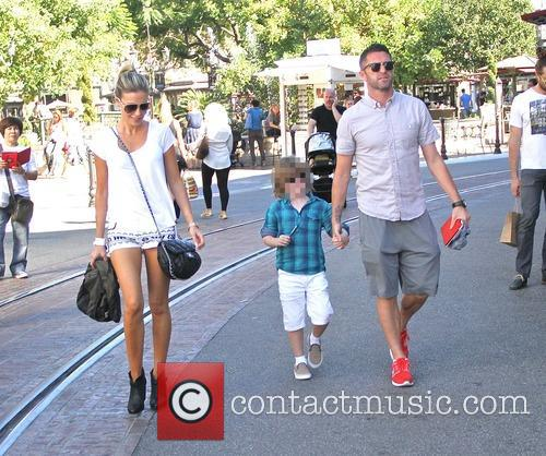 Robbie Keane and family shopping at The Grove