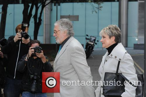 Dave Lee Travis arriving at Southwark Crown Court...