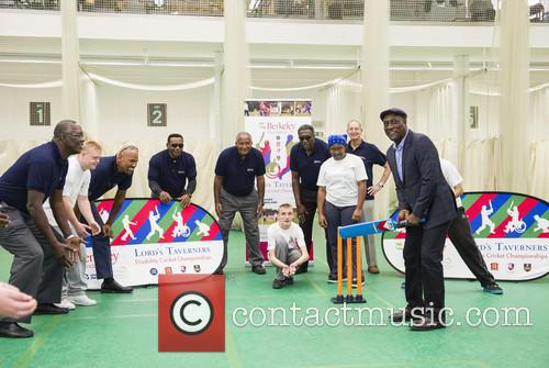 Joel Garner, Colin Croft, Gordon Greenidge, Sir Andy Roberts, Clive Lloyd, Tony Cozier and Sir Vivian Richards 2