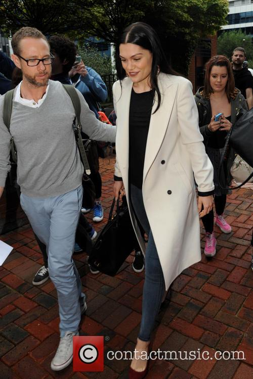 Jessie J arriving at Capital FM in Manchester
