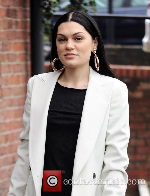 Jessie J arrives at Key 103 radio station...