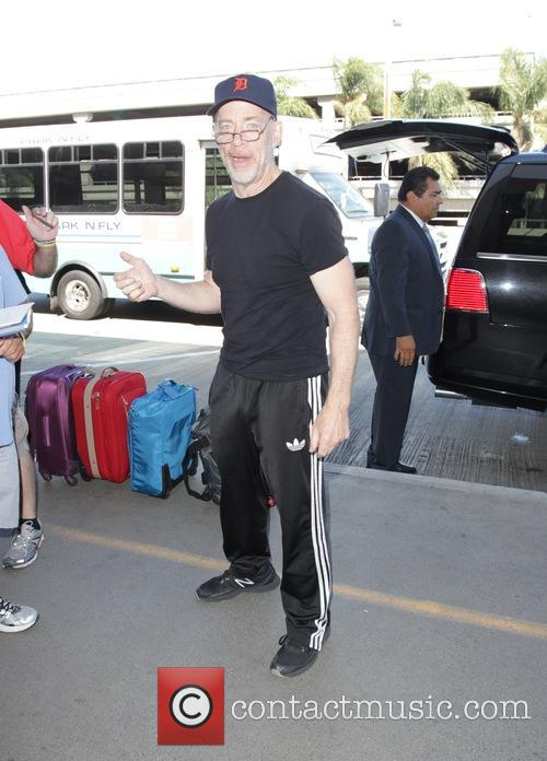J.K. Simmons leaving Los Angeles International Airport