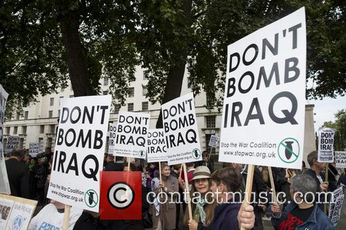 'Don't Bomb Iraq' protest in Whitehall