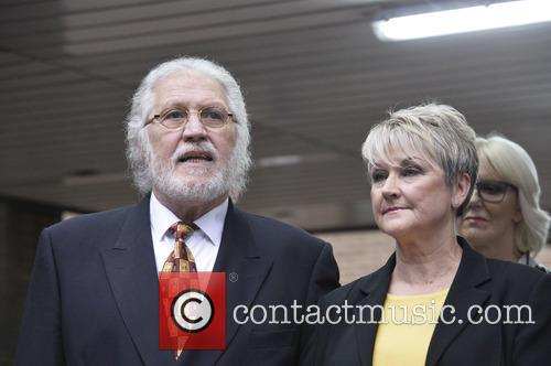 Dave Lee Travis gives a statement after sentencing...