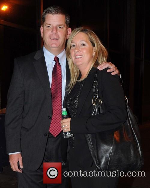 Mayor Of Boston Marty Walsh and Girlfriend Lorrie Higgins 1