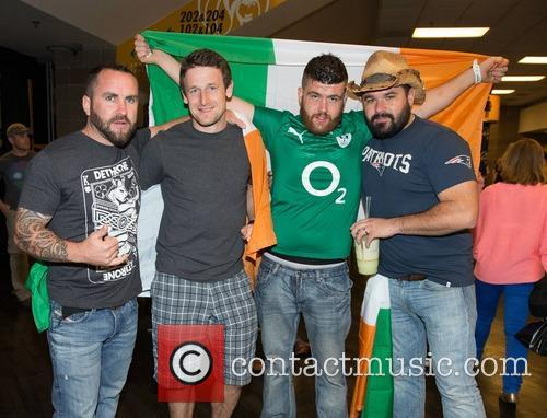 Fans Paul Murphy, Bobby Fitzpatrick, Liam O'sullivan and Ronan Fitzpatrick 8