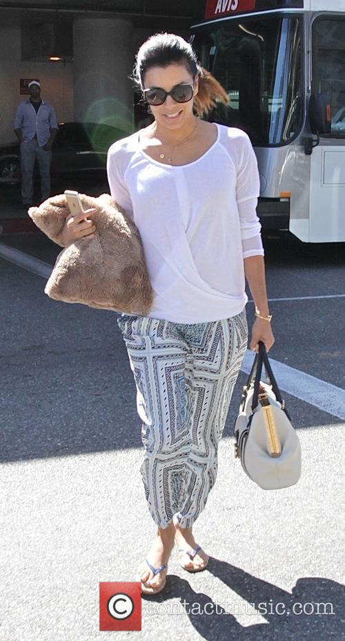 Eva Longoria at Los Angeles International Airport (LAX)