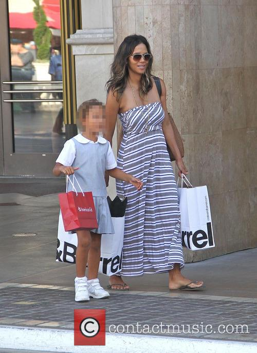 Halle Berry takes Nahla shopping at the Grove...