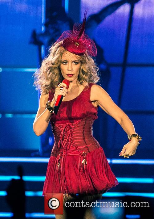 Kylie Minogue performs at The O2 Arena