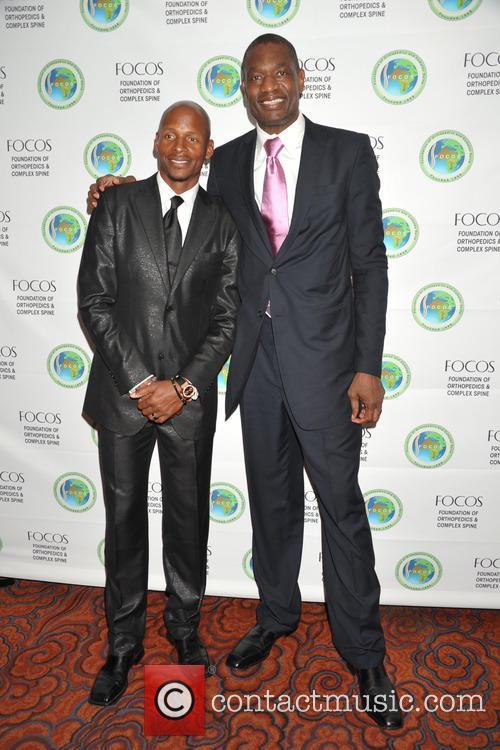 Ray Allen and Dikembe Motombo 8