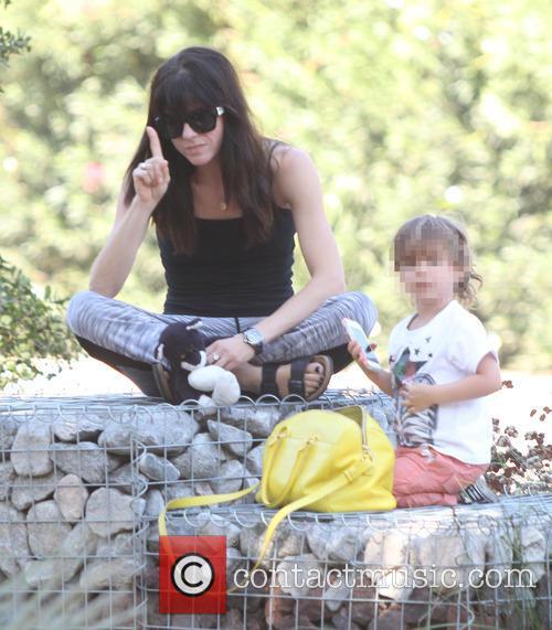 Selma Blair and her son Arthur enjoy the...