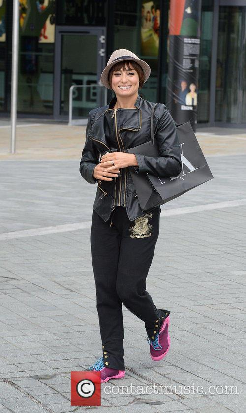 Flavia Cacace out and about in Media City