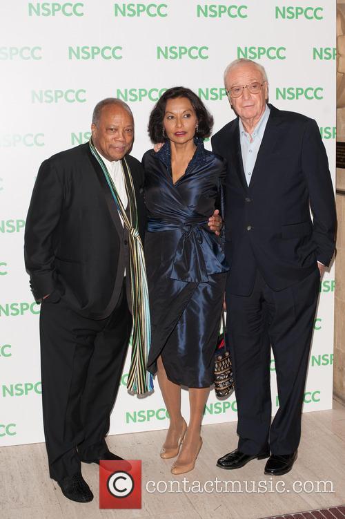 Quincy Jones, Shakira Caine and Michael Caine 2