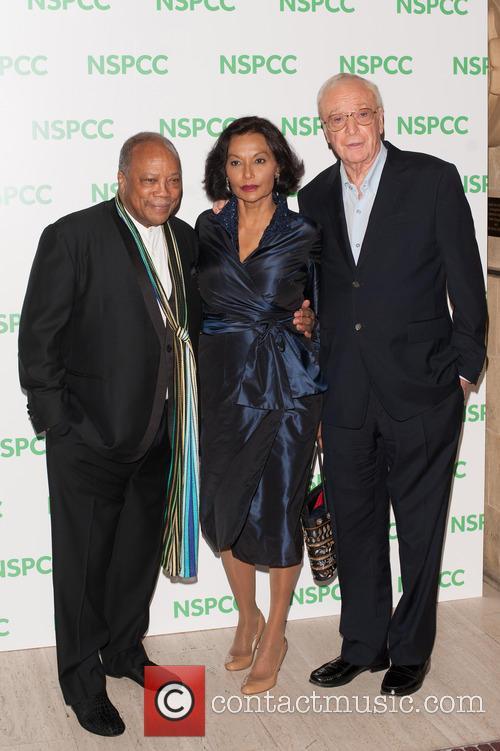 Quincy Jones, Shakira Caine and Michael Caine 1
