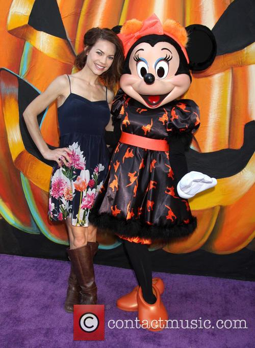 Rebecca Herbst and Minnie Mouse 4