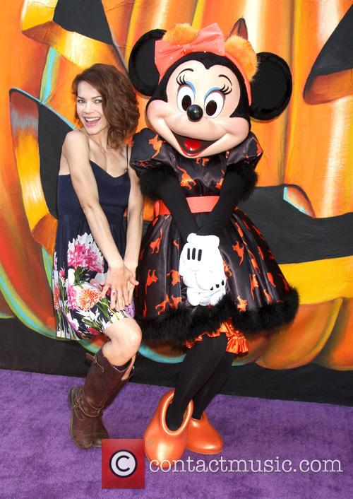 Rebecca Herbst and Minnie Mouse 5