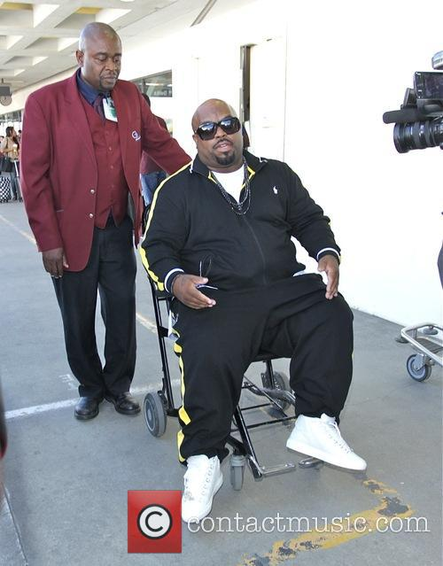 Cee Lo Green arrives at Los Angeles International...