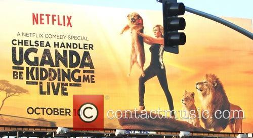 Chelsea Handler's advertising billboard for Netflix