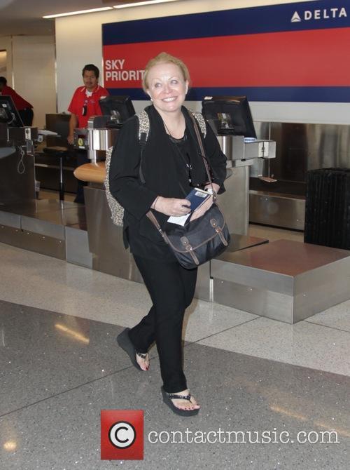 Jacki Weaver leaves Los Angeles International Airport