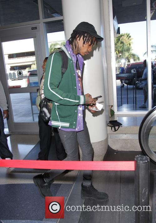 Wiz Khalifa leaves Los Angeles International Airport