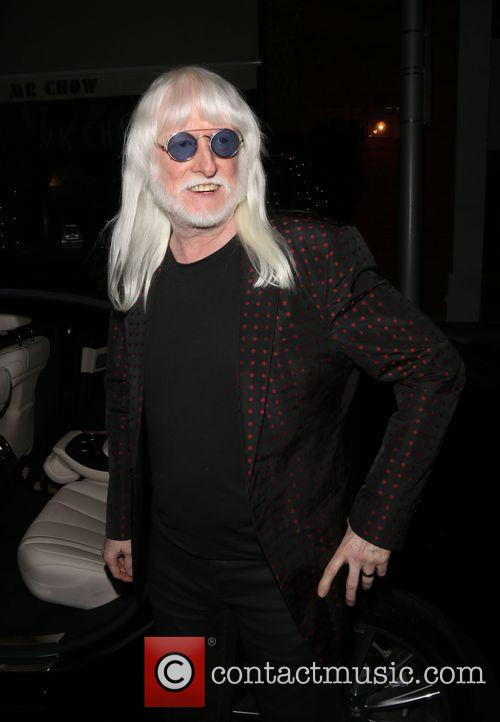 American rock and blues musician, Edgar Winter outside...