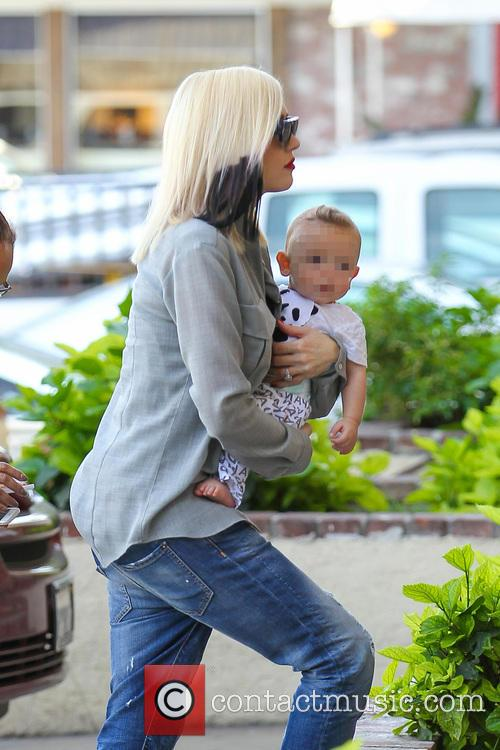 Gwen Stefani takes her youngest son Apollo Rossdale...