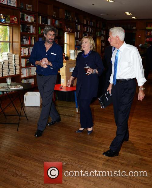 Mitchell Kaplan, Hillary Clinton and Charlie Crist 2